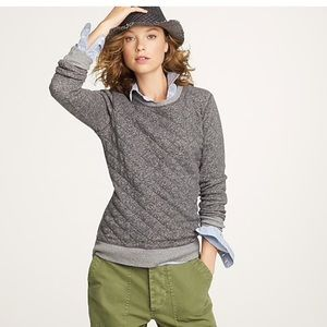 J. Crew gray quilted sweatshirt